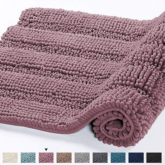 Amazon Com Ultra Soft Thick Washable Bathroom Mat Runner Feature Dry Fast Water Absorbent Non Slip Bath Rug Runner Stripe Bath Runner Rugs Bath Rug Rug Runner