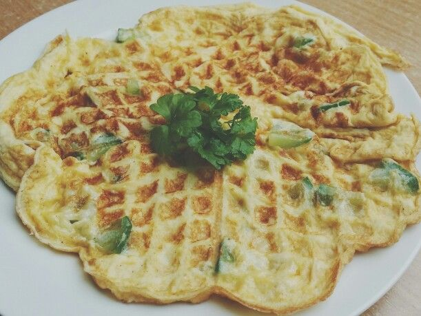 Omelette Waffle ❤