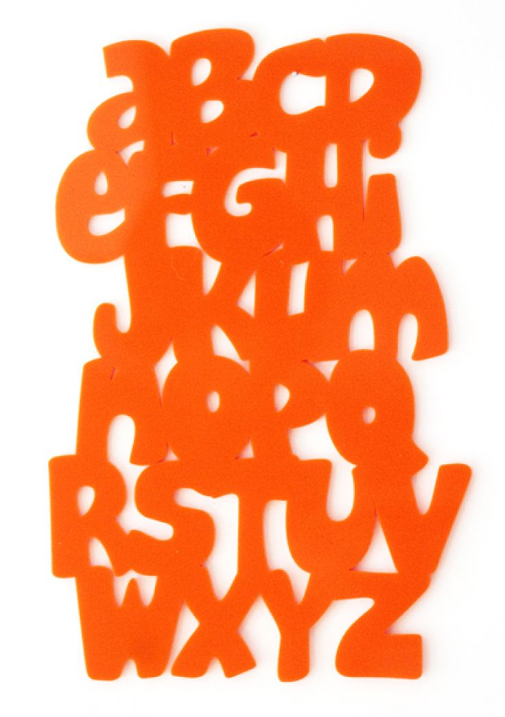 Now I Know My ABCs wall art in orange acrylic. Available in other colors as well!