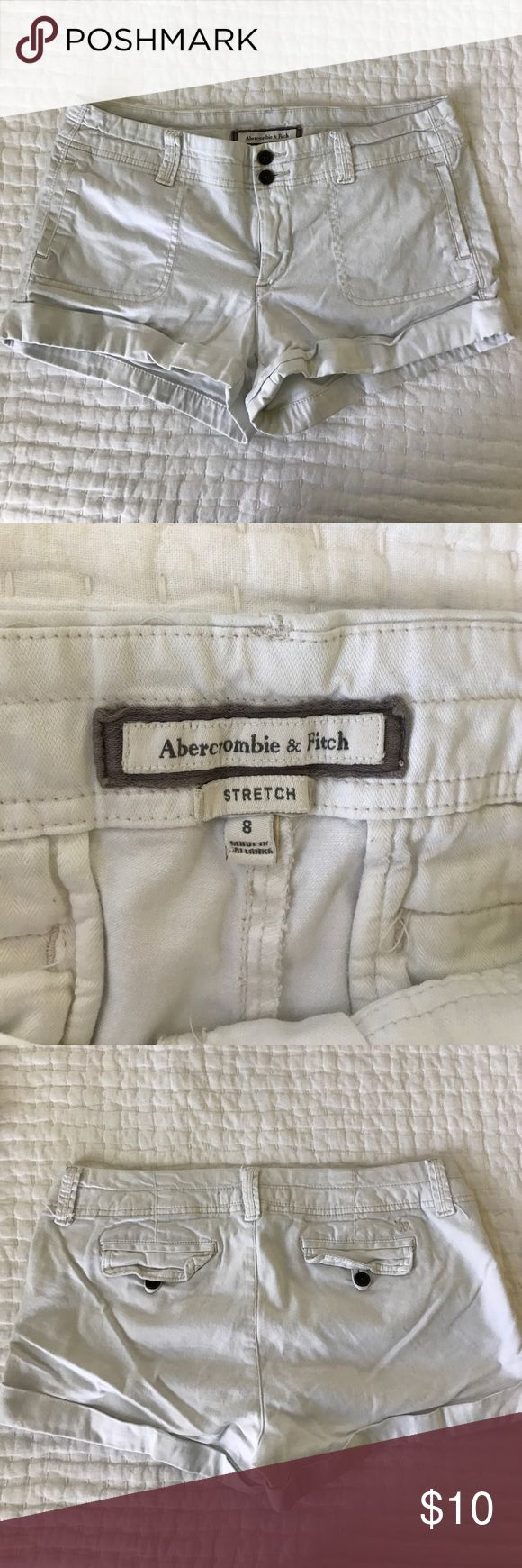 Abercrombie and Fitch white shorts sz 8 White Abercrombie and Fitch shorts with stretch Abercrombie & Fitch Shorts