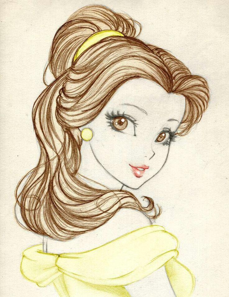 how to draw belle easy
