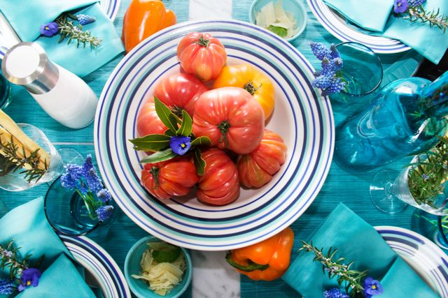 POP of Color Pasta Party GIVEAWAY From The Bellevue Collection in Mediterranean Blue!