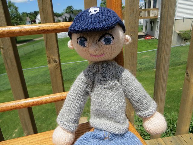 Ravelry: Baseball Cap for Arne & Carlos Dolls pattern by Kelly Komejan Crafts