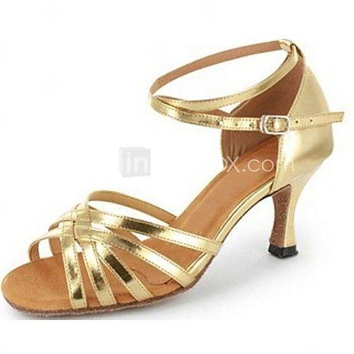 Zapatos de baile (Oro) - Salón de Baile/Danza latina/Salsa Tacón Personalizado 2017 - $27.99