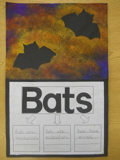 Mrs. T's First Grade Class: All About Bats - Love this art project
