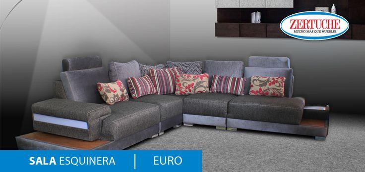 Sala esquinera euro nueva y exclusiva sala en estilo for Sofa piel esquinero