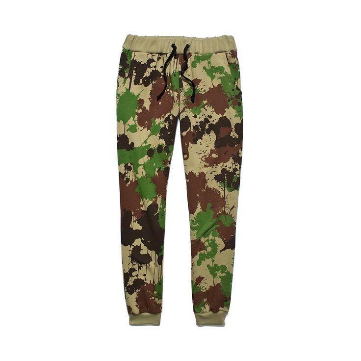 Spodnie Dresowe SLIMIT CAMO Damskie bawełniane spodnie dresowe w całości pokryte autorskim wzorem kamuflażu.