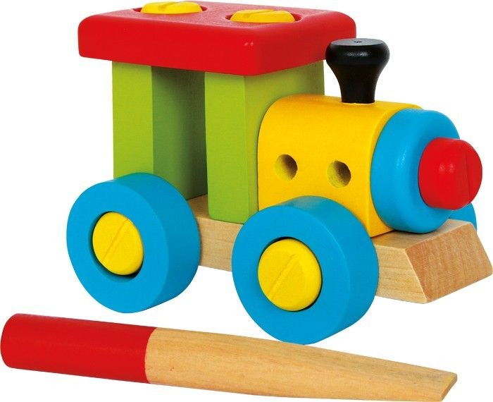 locomotora para montar en madera
