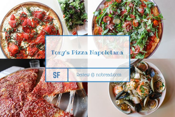 With #glutenfree pizza, pasta and breadsticks, who wouldn't want to try Tony's Pizza Napoletana in #SanFrancisco! Take a look at the full menu on the #NOBREAD review.