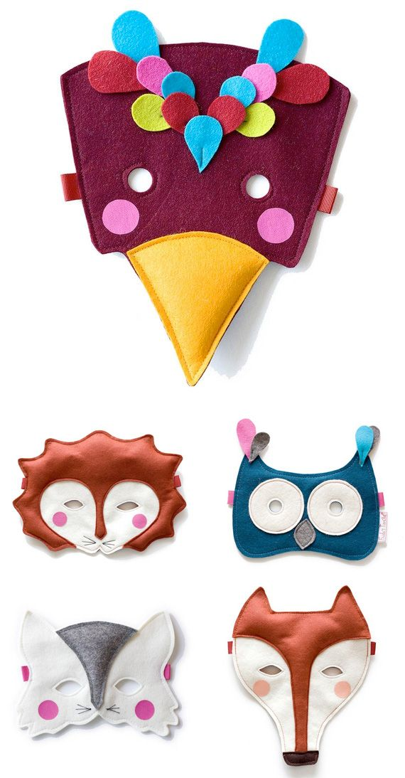 Felt mask for kids: could let kids act out the characters in a story to target narrative elements and other language/speech goals