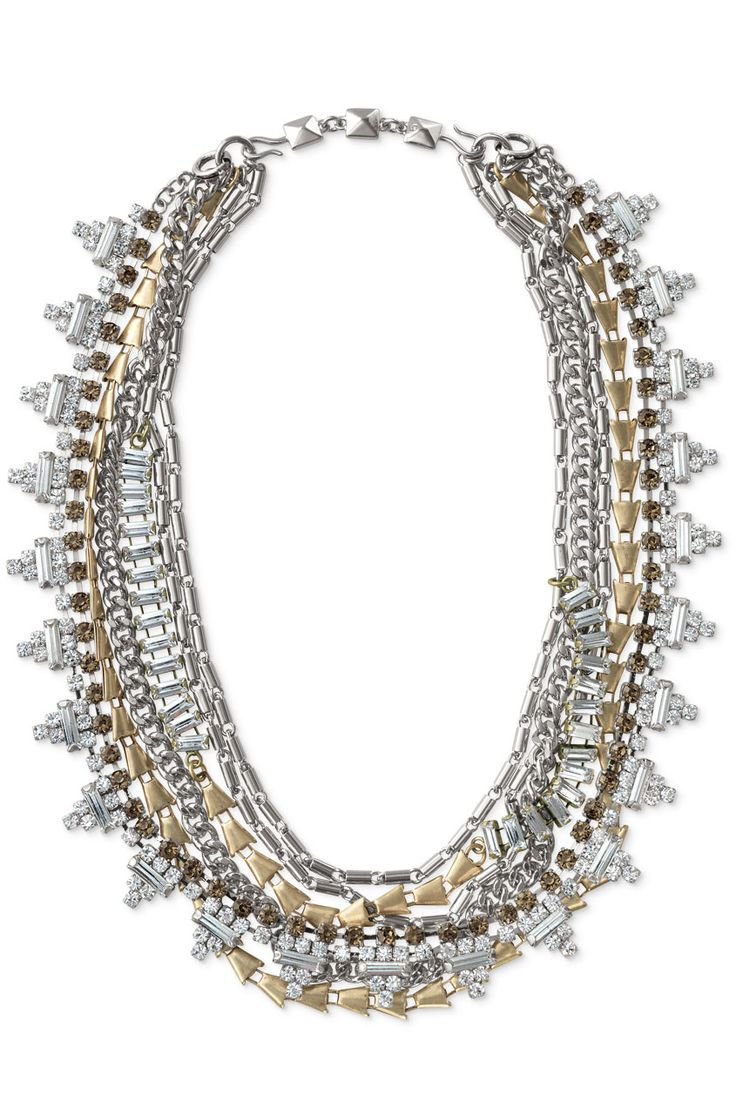 Wear it 5 Ways Mixed Metal Statement Necklace | Sutton Necklace | #StellaDotStyle | Stella & Dot | Find it at www.stelladot.com