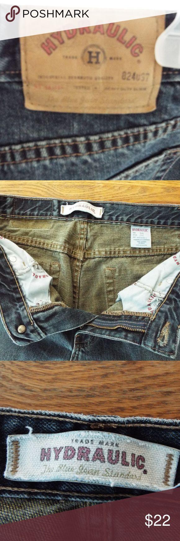 """HYDRAULIC JEANS Sz 5/6 Boot cut 9"""" opening / dark wash / sz 5/6 Waist 30 / Inseam 32 / Rise 9 / Hip 32 Hydraulic Jeans Boot Cut"""