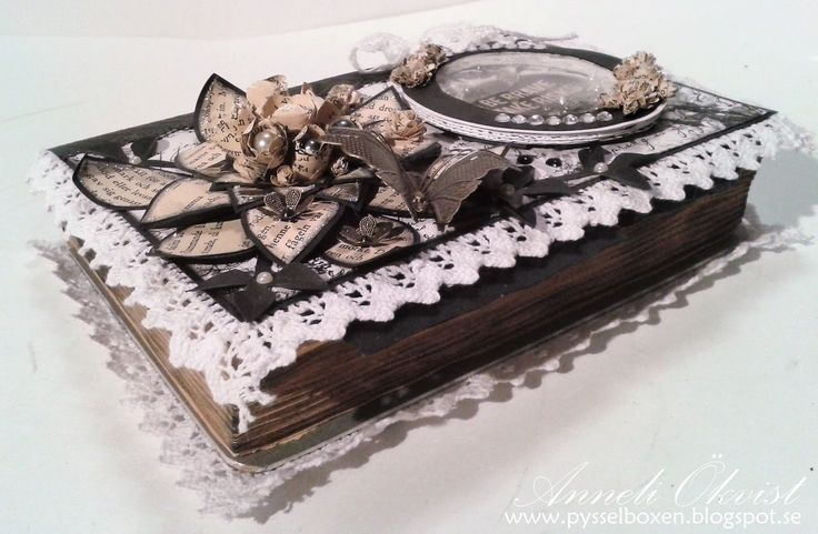 Altered Book with a box inside and a shaker card on the front side