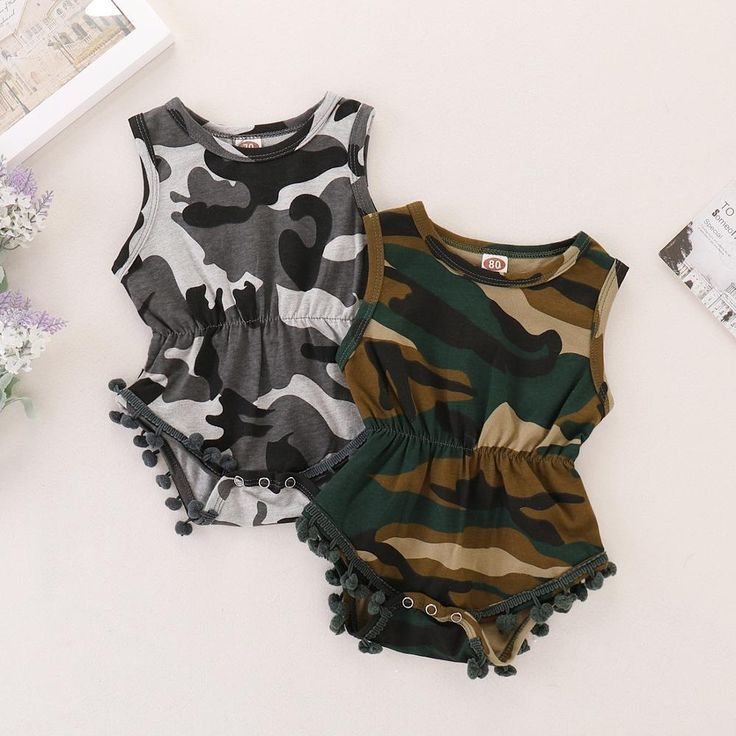 Camouflage Newborn Baby Romper Clothes Summer Sleeveless Infant Bebes Boys Girls Fashion Toddler Kids Jumpsuit Sunsuit