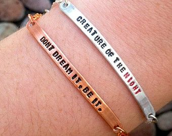 Customizable Rocky Horror Picture Show Quote Bracelet, Made to Order