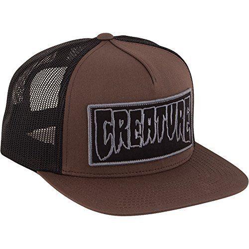 Creature Skateboards Reverse Patch Brown / Black Mesh Trucker Hat – Adjustable: One (1) Creature Skateboards Reverse Patch Mesh Trucker Hat…