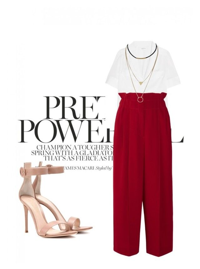 """""""Untitled #652"""" by tamarasantos on Polyvore featuring Frame, Sonia Rykiel and Gianvito Rossi"""
