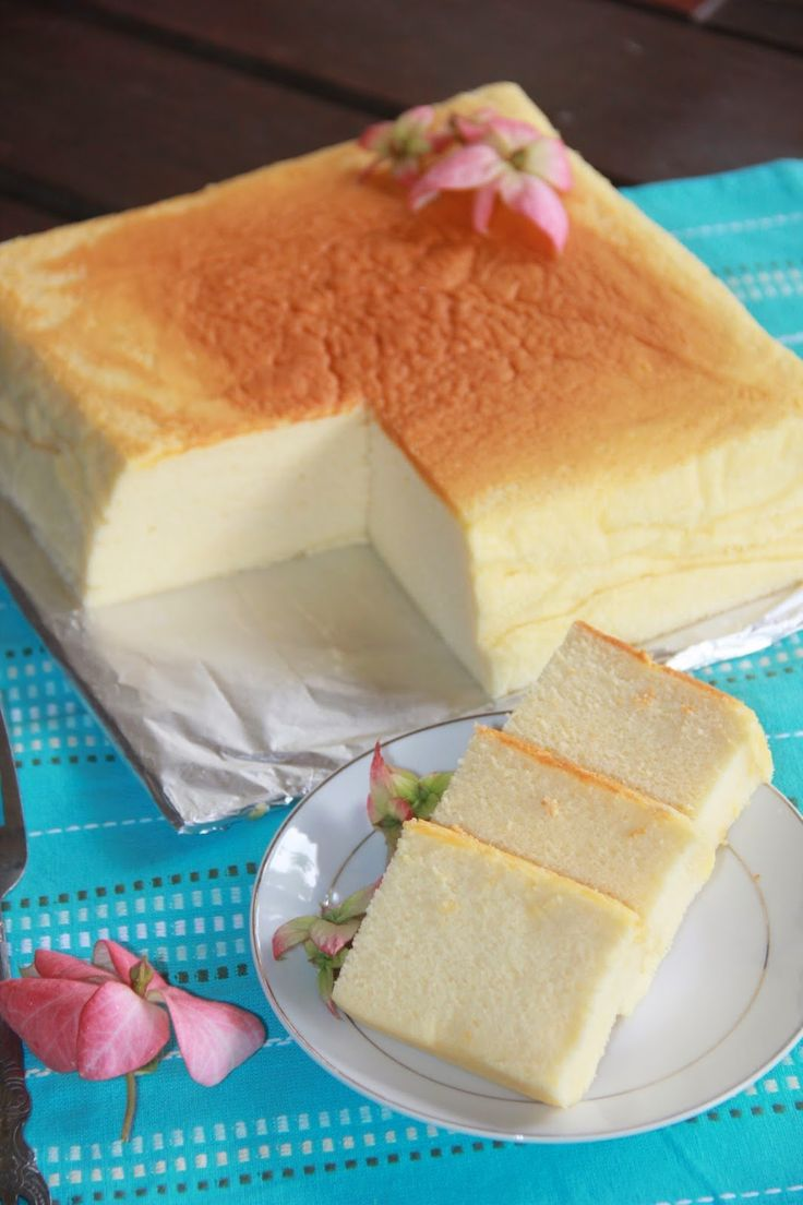 This looks so exceptional to me - a cross between pound cake and cheesecake? Best ever Japanese Cotton Cheesecake