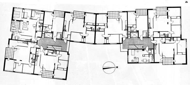 Alvar aalto hansaviertel berlin 1955 57 plans 50 39 s for Apartment structural plans