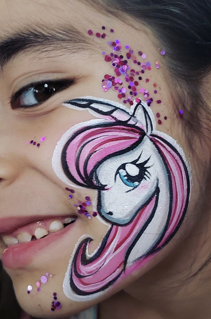Cheek Face Paint : cheek, paint, Unicorn...cheek, Painting, Unicorn,, Painting,, Designs