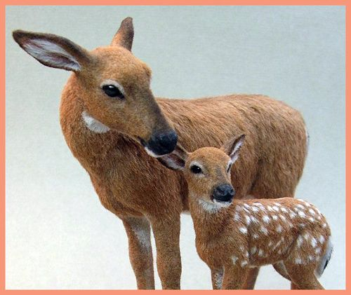White Tail Doe and Fawn - Kerri Pejutee (This woman is an incredible artist.)
