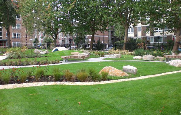 Broadley Street Gardens in Paddington, Greater London