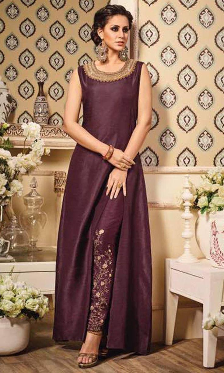 Buy online Party Wear Purple Frock Suit (SKU Code : SUEBRVP10012) at Ishimaya Fashion.