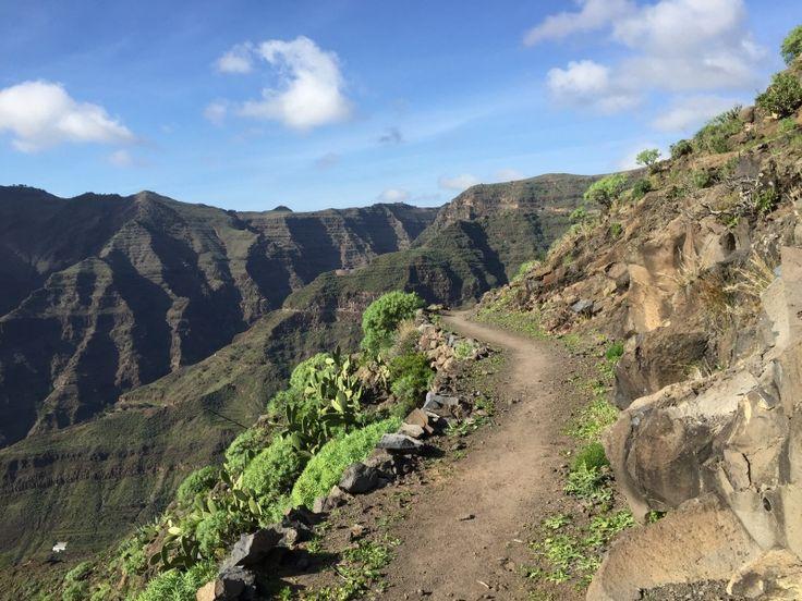 la gomera rundwanderung - etappe 1 - beginn des abstiegs ins valle gran rey GR-132