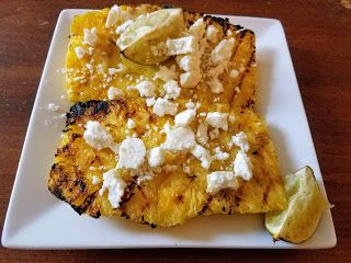 Grilled Pineapple with Feta and Lime