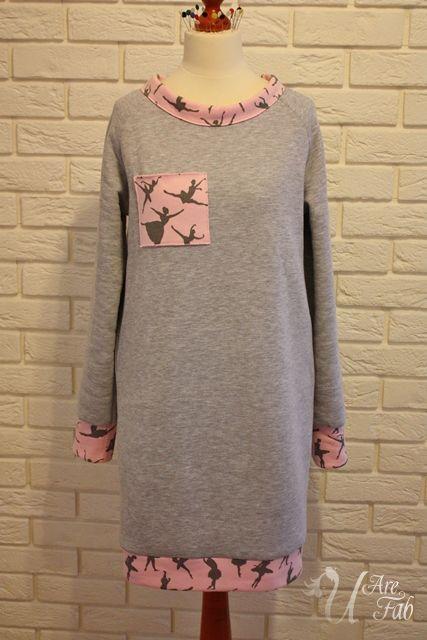 Handmade warm jersey tunic