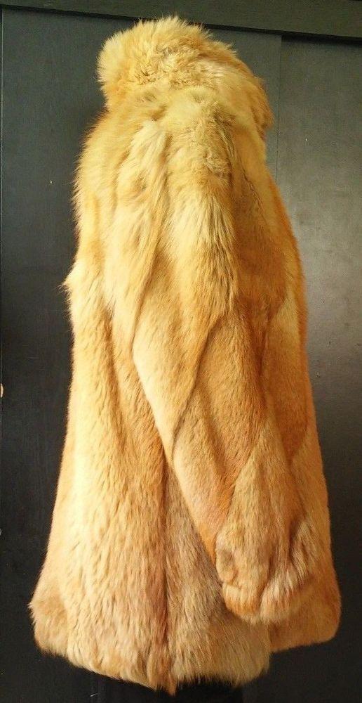 Beautiful Women's Red Fur Coat Size XL #fur #BasicCoat #furcoat #coat #eBay #Fashion