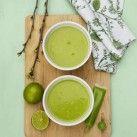 Grön ärtsoppa med kokosmjölk och wasabi