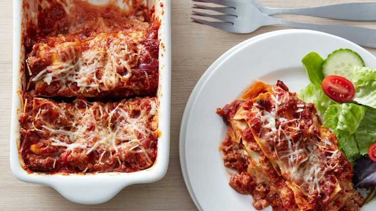 Perfect for when you don't want a full pan of lasagna (but still want leftovers for lunch the next day), this small version packs a big flavor punch with Italian sausage, fire-roasted tomatoes and three kinds of cheese.