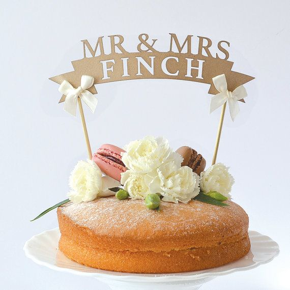 Rustic Paper Wedding Cake Toppers By HanmadeDesignsUK On Etsy