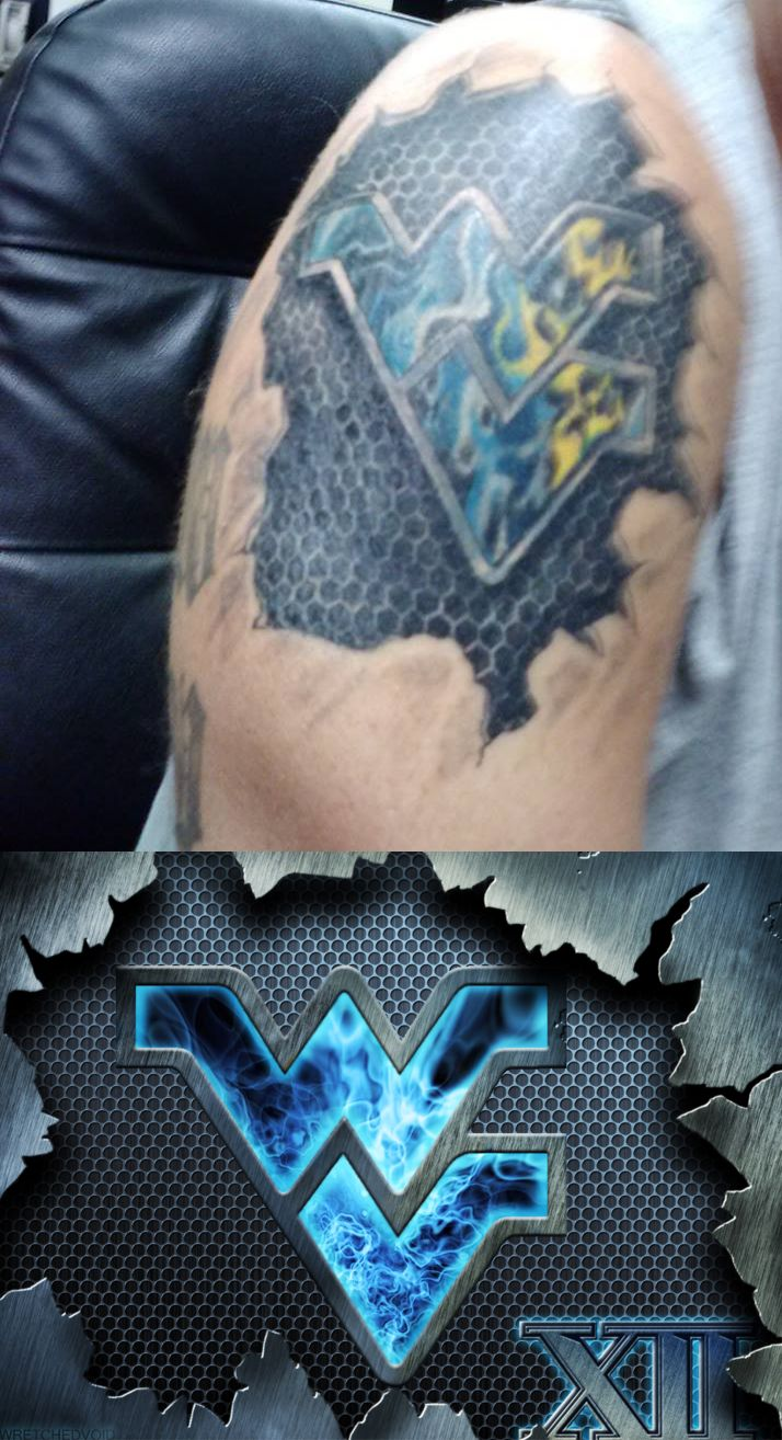 this is awesome one of my flying wv designs flying wv steel blue plasma made into a tattoo i. Black Bedroom Furniture Sets. Home Design Ideas
