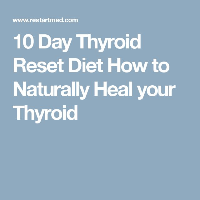 10 Day Thyroid Reset Diet How to Naturally Heal your Thyroid