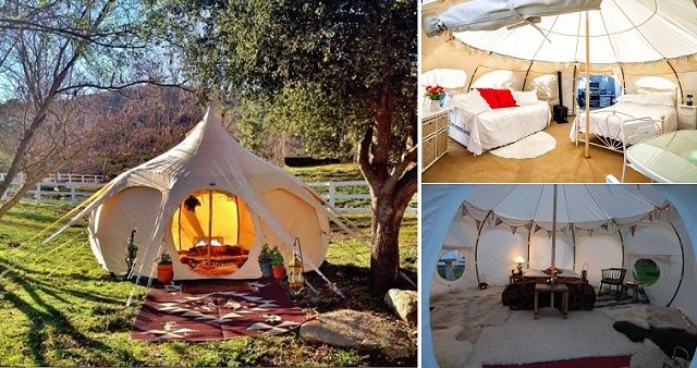 Lotus Belle Luxury Camping Tents... I could live in this