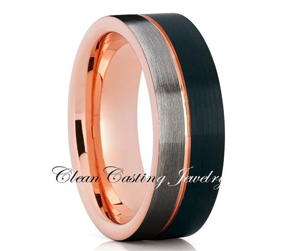 Tungsten Band Men's Tungsten Carbide Ring by CleanCastingJewelry
