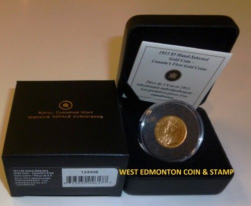 1913 $5 HAND SELECTED GOLD COIN - CANADA'S FIRST GOLD COINS  #CanadianMint #Canadian #Mint $899.95