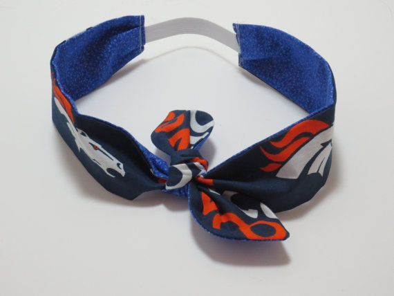 Bronco headband  womens headband  Broncos  by BitchinBagsbyBenita, $12.00