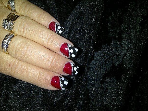 Nail Art  Nascar Nails for Wendy