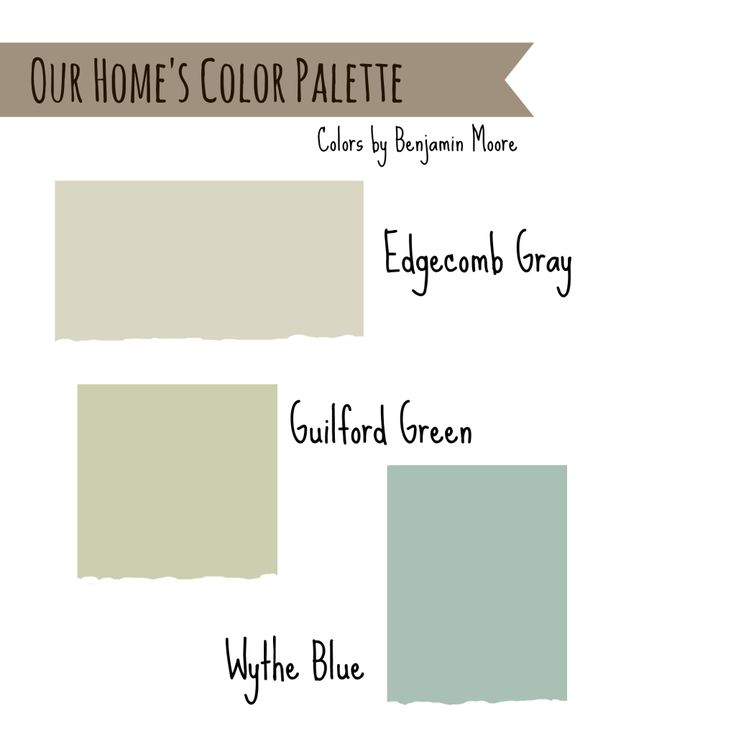 House Colors Edgecomb Gray Wythe Blue And Guilford