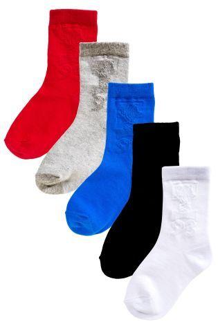 Multi Basketball Socks Five Pack (Older Boys)