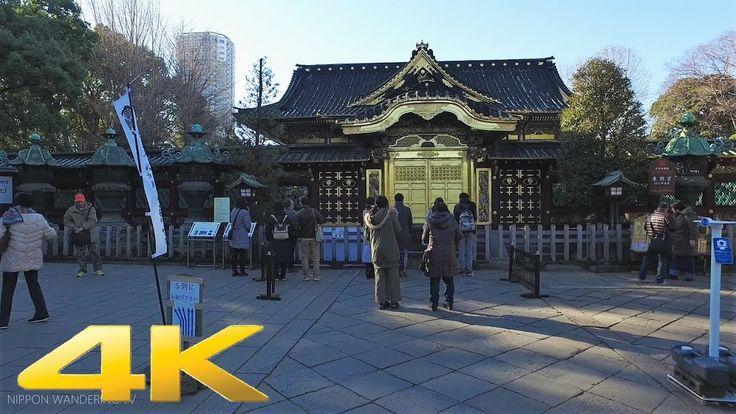 First shrine visit of the new year to Ueno Toshogu Shrine - Long Take【東京...