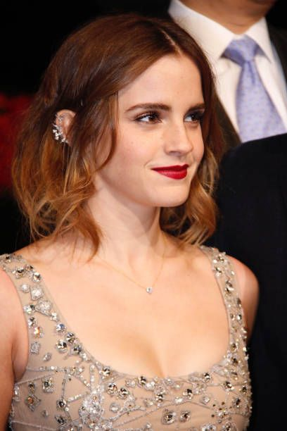 British actress Emma Watson attends the premiere of American director Bill Condon's film 'Beauty and the Beast' at Walt Disney Theatre on February 27...