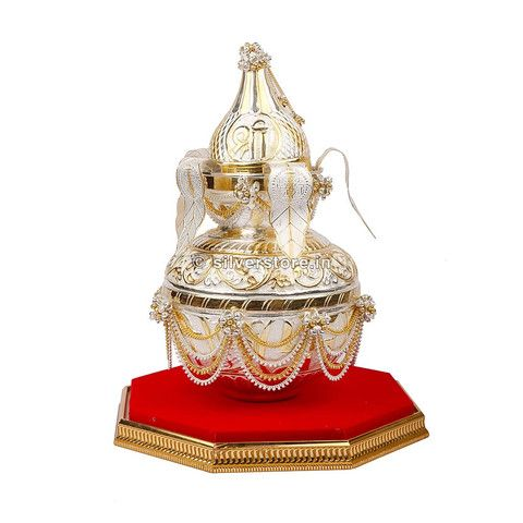 Silver Kalash - Matki / Matli / Kumbh is best gift to give on auspicious occasion like Openings, Marriage Ceremony or as Memento.