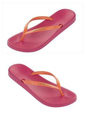 pink & orange #colorblock #flipflops from iPANEMA $20.00