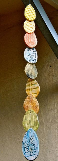 4 of a kind......Ceramic Wind Chime by melton-schreiber. These are a little crude for this assignment but you can get the idea. My goal is to have you make three refined identical forms.