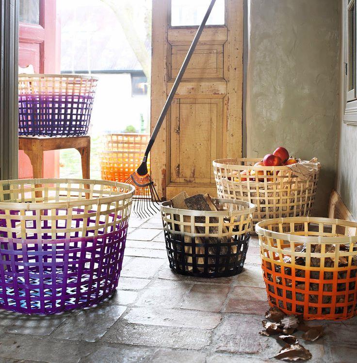 Dyed IKEA Gaddis Basket