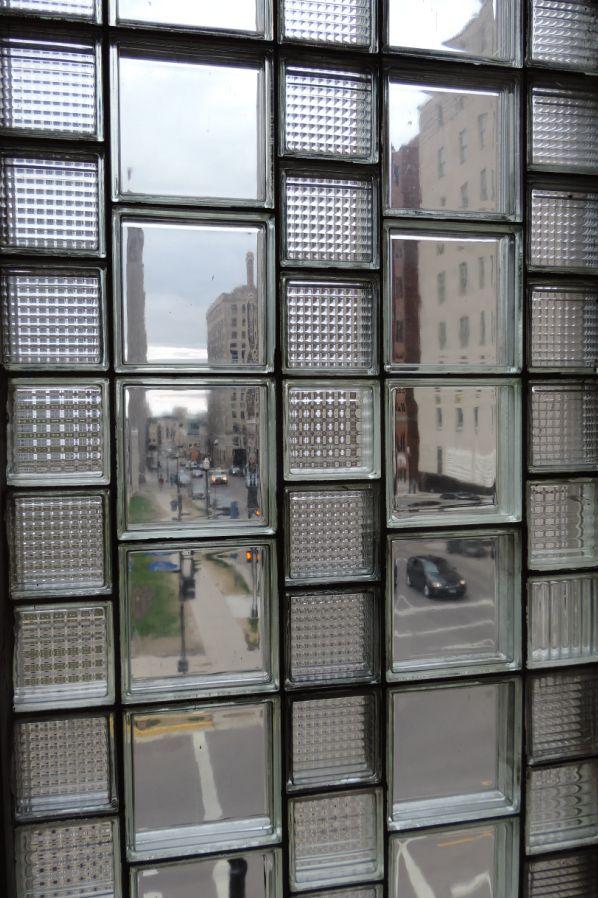 Mixed Brick Glass Block Wall Extension Pinterest